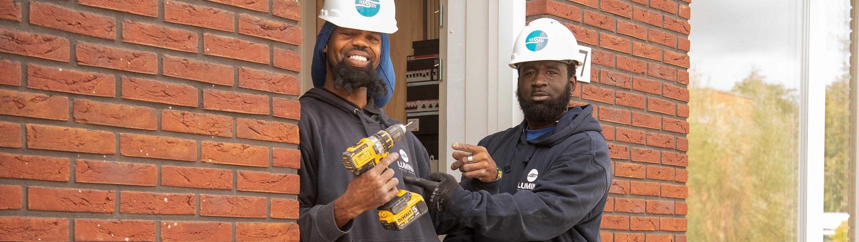 Lumina Elektromonteurs aan het werk in de woningbouw